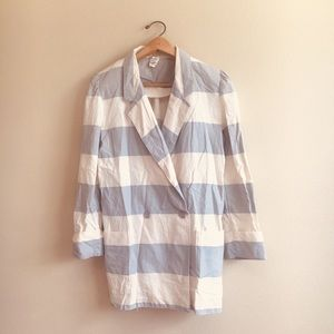 Vintage Union Made Stripe Linen Blazer